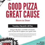 Good Pizza, Great Cause – Eat at MOD Pizza, May 30th