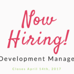 We're Hiring! Development Manager